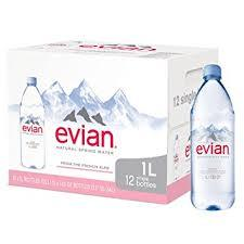 Evian Water 1 Liter bottles 12 per case
