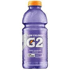 Gatorade G2 Grape 20oz. bottles 24 per case