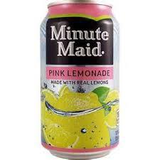 Minute Maid Pink Lemonade 12oz. cans 24 per case