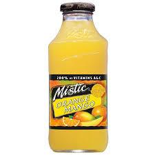 Mistic Orange Mango 16oz. bottles 24 per case