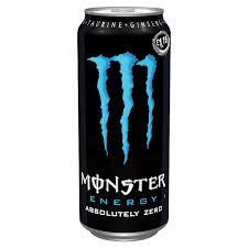 Monster Energy Absolutely Zero 16oz. cans 24 per case