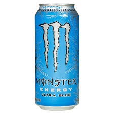 Monster Energy Ultra Blue 16oz. cans 24 per case