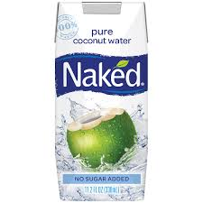 Naked Organic Coconut Water 16.9oz. cartons 12 per case