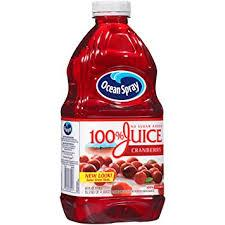 Ocean Spray Cranberry Juice 60oz. bottles 8 per case