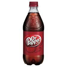 Dr. Pepper 20oz. bottles 24 per case