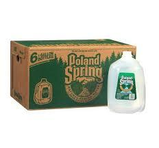Poland Spring gallon bottles 6 per case