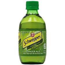Schweppes Ginger Ale 10oz. glass bottles 24 per case