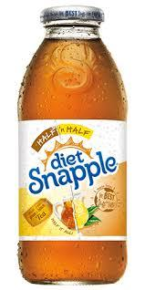 Snapple Diet Half 'n Half 16oz. bottles 24 per case