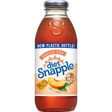 Snapple Diet Peach Tea 16oz. bottles 24 per case