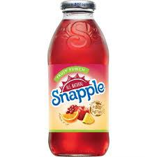 Snapple Fruit Punch 16oz. bottles 24 per case