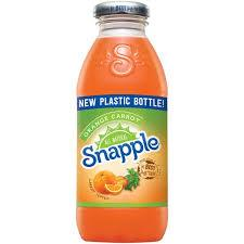 Snapple Orange Carrot 16oz. bottles 24 per case
