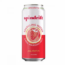 Spindrift Strawberry 16oz. cans 24 per case