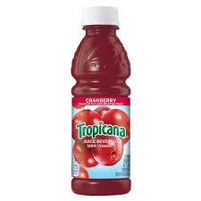 Tropicana Cranberry Juice 10oz. bottle 24 per case