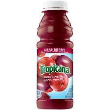 Tropicana Cranberry Juice 15.2oz. bottle 24 per case