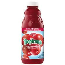 Tropicana Cranberry Juice 32oz. bottle 12 per case