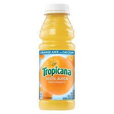 Tropicana Orange Juice with Calcium 15.2oz. bottle 24 per case
