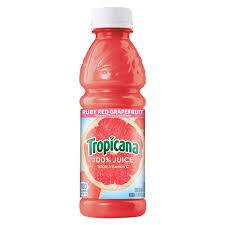 Tropicana Ruby Red Grapefruit Juice 10oz. bottle 24 per case