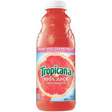 Tropicana Ruby Red Grapefruit Juice 32oz. bottle 12 per case