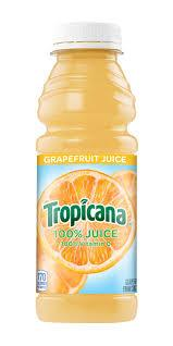 Tropicana White Grapefruit Juice 15.2oz. bottle 24 per case