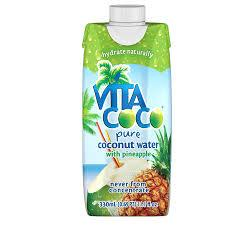 Vita Coco Coconut Water with Pineapple 11.16oz. cartons 12 per case