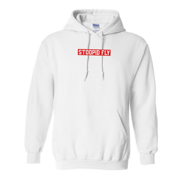 Stoopid Fly White Hoodie