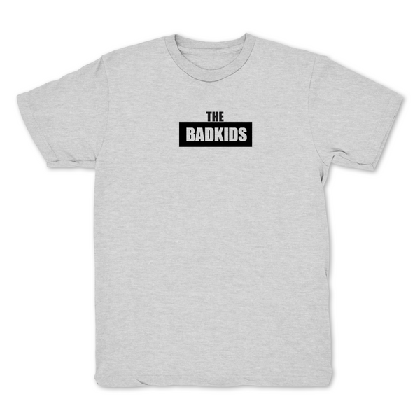 The Bad Kids Chest Print Gray T shirt