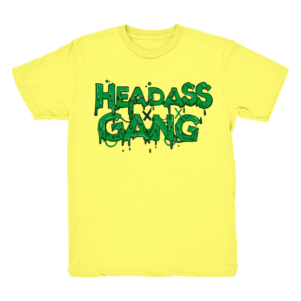 Headassgang yellow T shirt