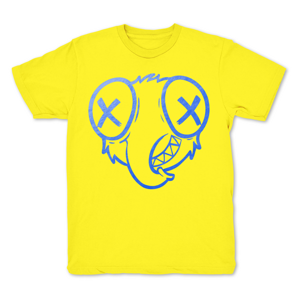 Stoopidfly White Graphic T shirt Foil Blue logo