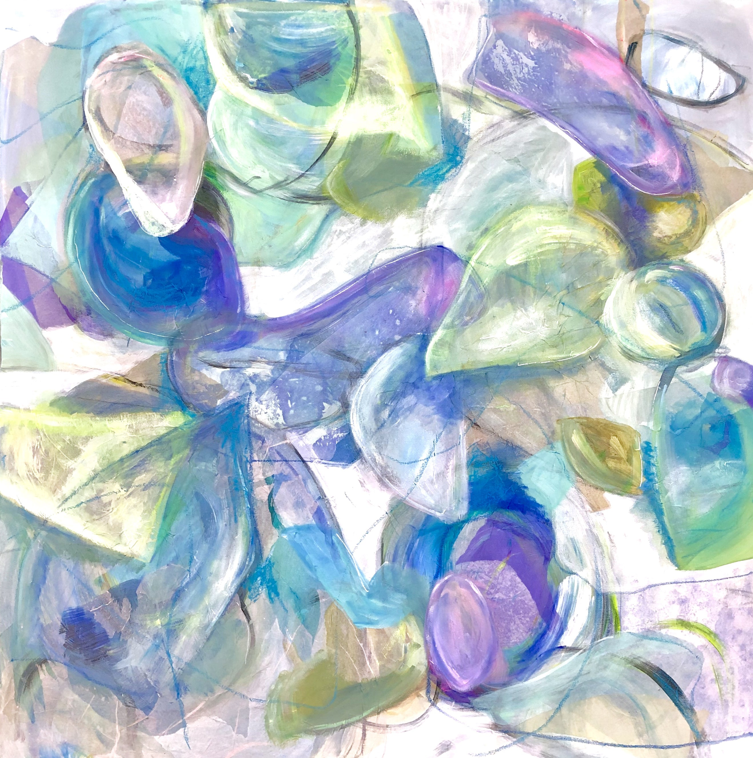 Italian Sea Glass, 36 x 36 in.