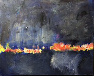 Rain over the Fires 16 x20 in.