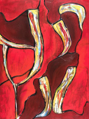 Red Abstract 48 x 36 in. SOLD