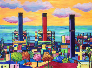 Redondo Beach Power Plant 36 x 48 in.
