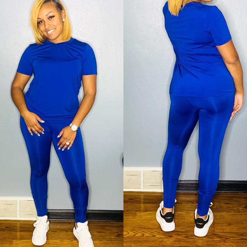 Baesic Legging Set (Royal Blue)