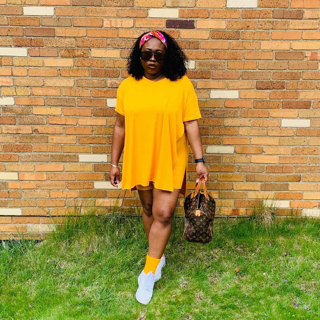 Essence Short Set (Mustard Yellow)