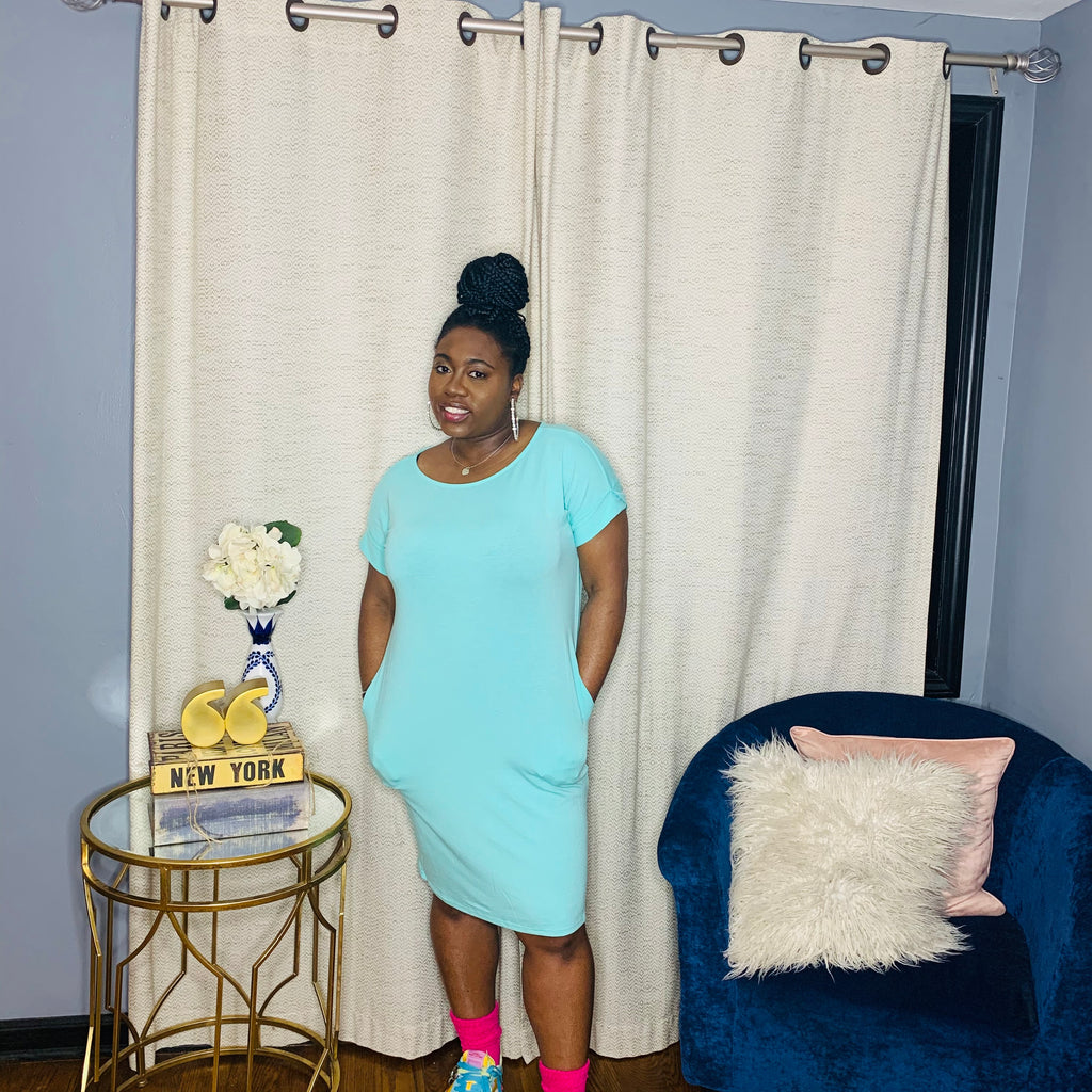 Essential Midi Dress (Mint)