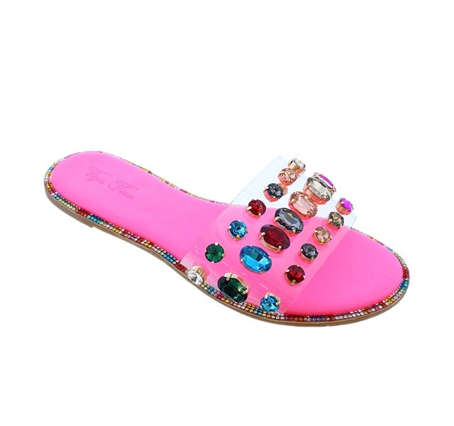 Luxe Jewel Sandals (Ships 6/15)