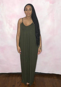 Essential Maxi Dress (Olive)