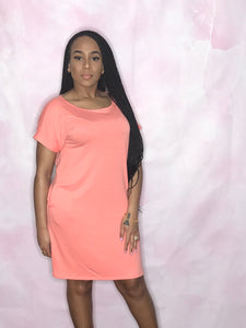 Essential Midi Dress (Deep Coral)