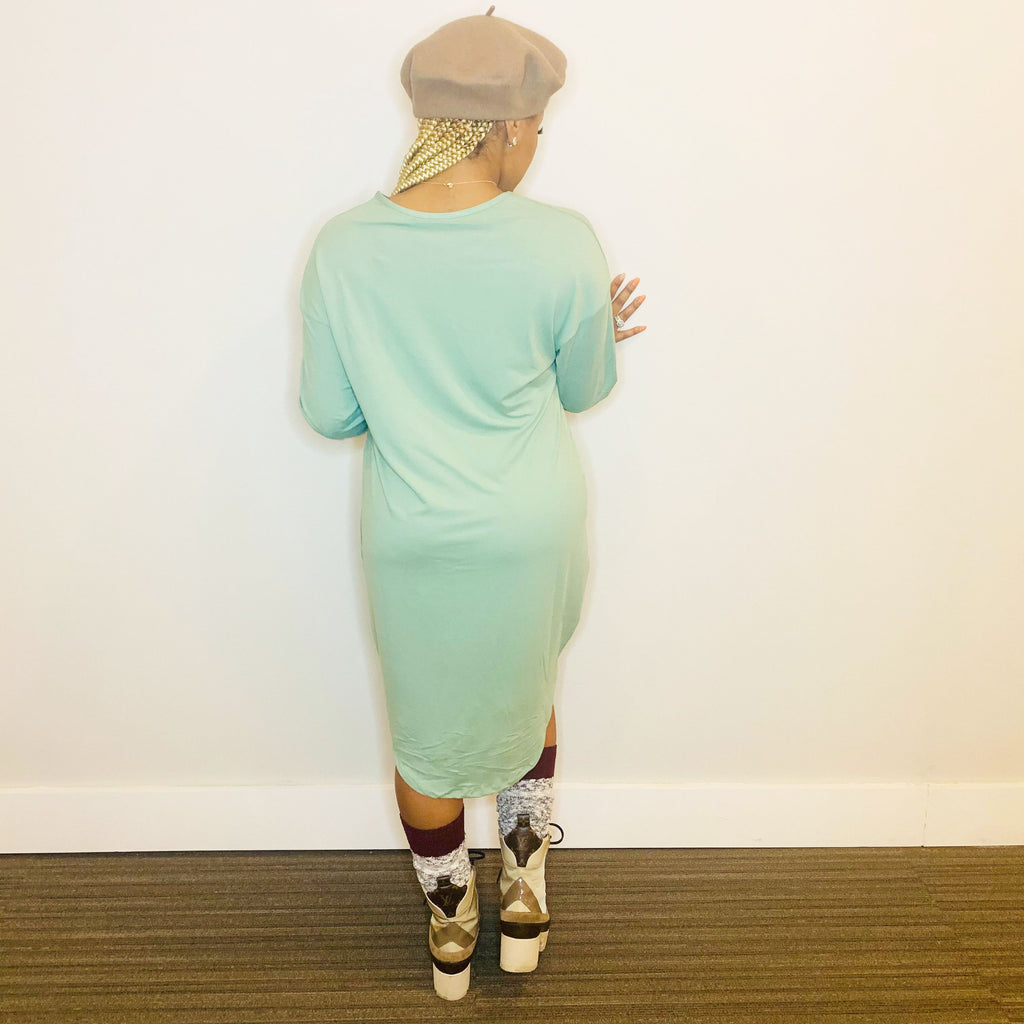 Pretty Baesic Midi Dress (Sage Green)