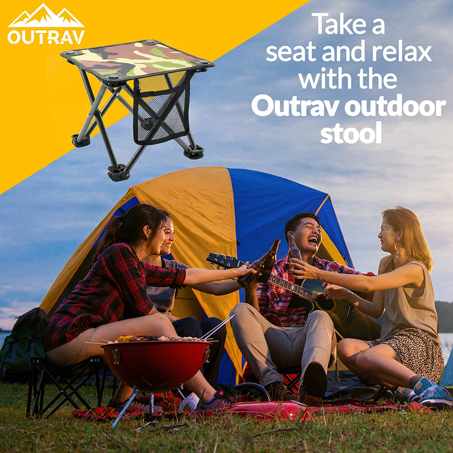 Amazing Outdoor Travel Folding Small Chair Portable Stool For Camping Uwap Interior Chair Design Uwaporg