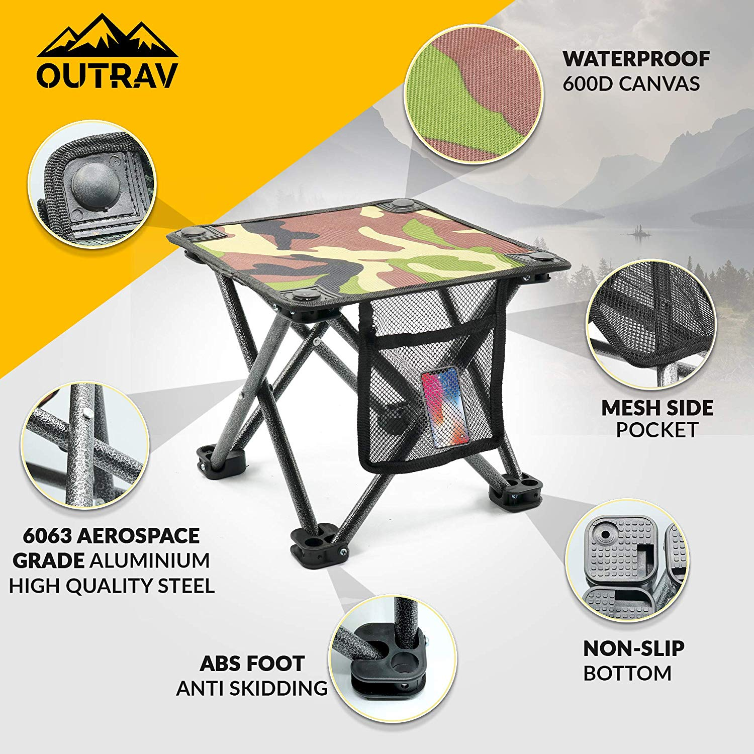 Cool Outdoor Travel Folding Small Chair Portable Stool For Camping Uwap Interior Chair Design Uwaporg