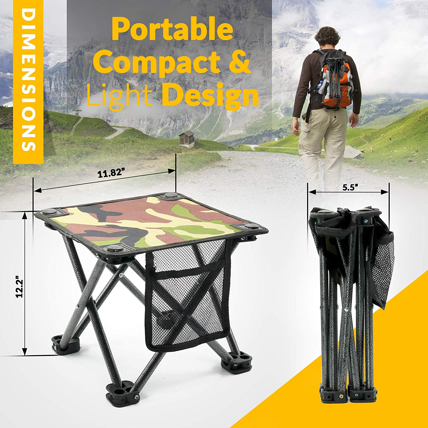 Incredible Outdoor Travel Folding Small Chair Portable Stool For Camping Uwap Interior Chair Design Uwaporg