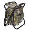 Outrav Camo Backpack Cooler and Stool - with Zippered Front Pocket and Bottle Pocket