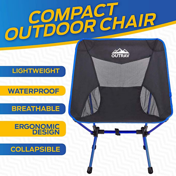 Superb Outrav Portable Camping Hiking Chair Heavy Duty 330Lbs Capacity With Carry Bag Gmtry Best Dining Table And Chair Ideas Images Gmtryco