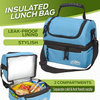 Outrav Black Padded Insulated Lunch Bag Cooler