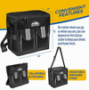 Outrav Black Padded Insulated Cooler - 2 Front Pouches, Handle and Shoulder Strap