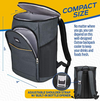 Outrav Black Camping Backpack Cooler – with 3 Zippered Compartments and 2 Mesh Pockets