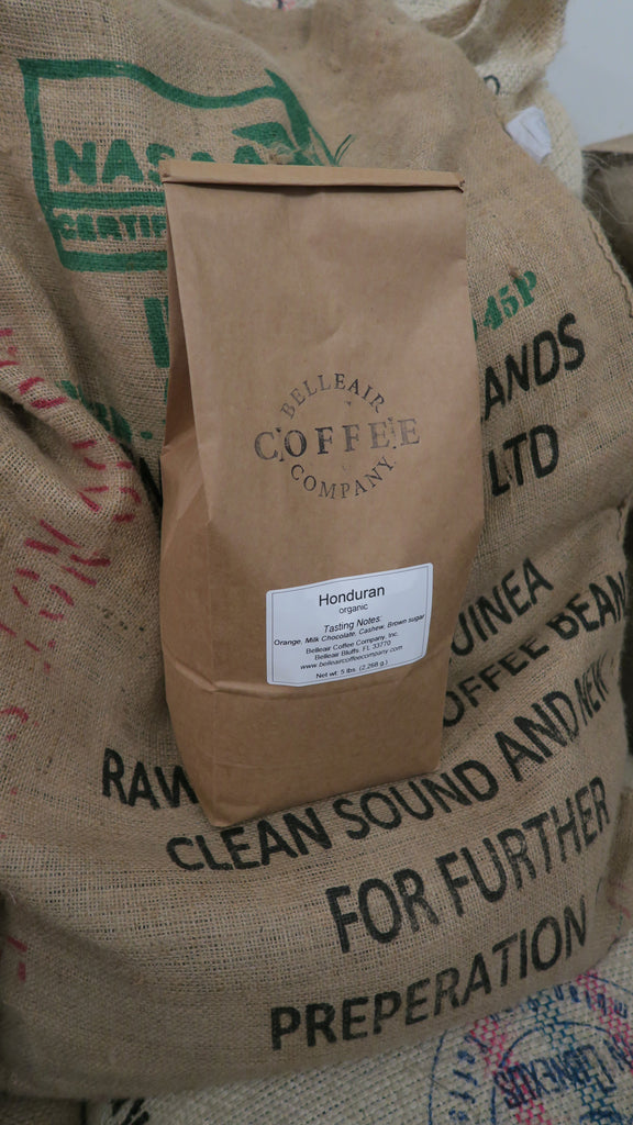 5 lb. Bag - Organic Whole Bean Honduran Coffee, San Vicente - RFA Fair Trade