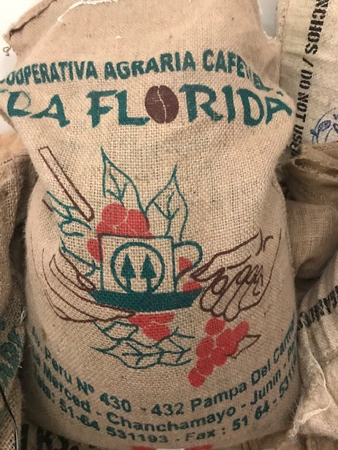 1 lb. Bag - Organic Whole Bean Peru Coffee, La Florida, Fair Trade (GP)