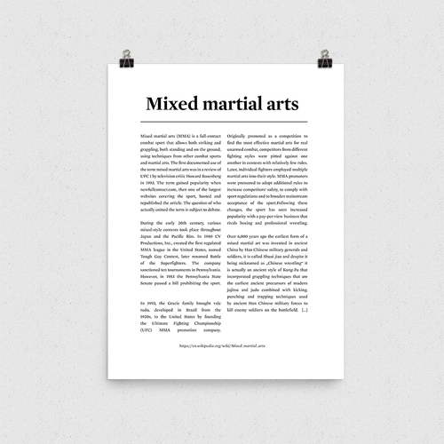 Poster - Mixed Martial Arts